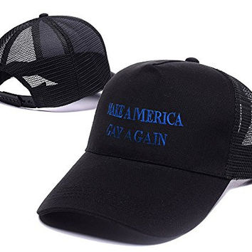 DEBANG Make America Gay Again Mesh Cap Embroidery Baseball Snapback Mesh Hat