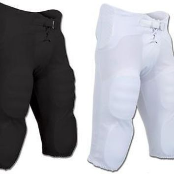 Champro Football Pants with Built In Pads - Black or White - Youth or Adult