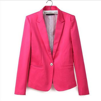 DCCKHY9 Za new hot stylish and comfortable women's Blazers Candy color lined with striped Z suit   Blazers  Free Shipping