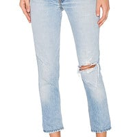 RE/DONE Levis High Rise Ankle Crop in Indigo | REVOLVE