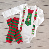 Baby Boys Christmas Outfit Grinch, Baby Boy Clothes, Baby Boy Leg Warmers, Baby Boys Holiday Outfit, Boys Christmas Tie with Suspenders