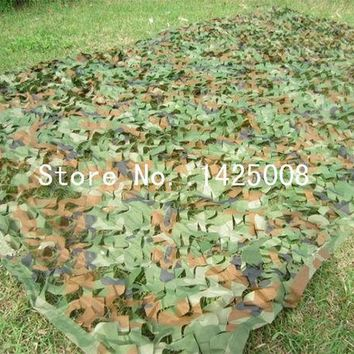 DCCKL72 Hunting Camping Camo Net  2X3m Woodland Leaves Camouflage Net  Jungle Leaves Camo Net For   Military Car Shade Cloths  Cover
