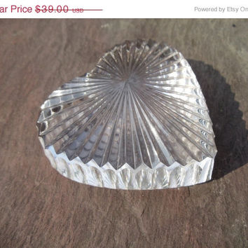 BIG SALE Waterford Crystal HEART Valentines Day is Coming Collectible Cut Irish Glass