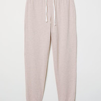 Pajama Pants - Powder pink/gray melange - Ladies | H&M US
