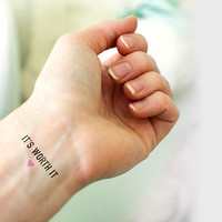It's Worth It  | Breastfeeding Inspiration Temporary Tattoo
