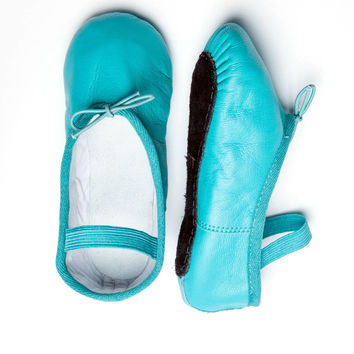 Turquoise Kids Ballet Flats
