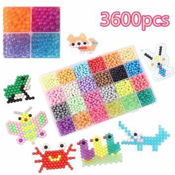 NEW 24 Colors Crystal DIY Aqua Beads Water Spray Magic Hand Making 3D Puzzle Educational Toys for Children Kit Ball Game