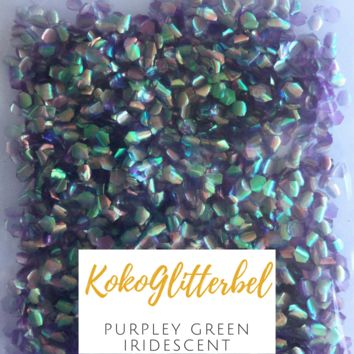 Mermaid Scales- Purpley Green Iridescent