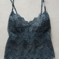 Only Hearts Cropped Lace Cami in Grey Size: