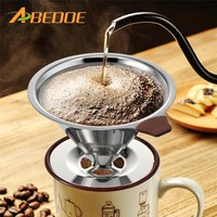 ABEDOE 1pc Reusable Coffee/Tea Filter Holder Sets