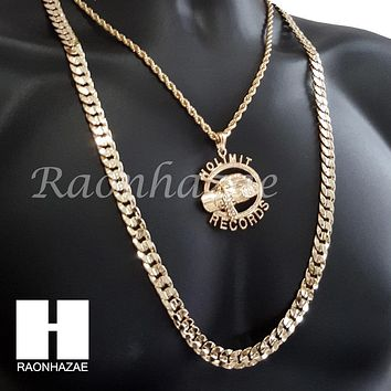 "ICED OUT NO LIMIT RECORDS CHAIN DIAMOND CUT 30"" CUBAN LINK CHAIN NECKLACE S073S"