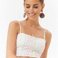 Striped Crop Cami