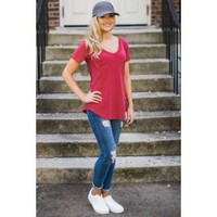 Z Supply Pocket Tee In Jester Red