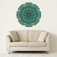 Full color Wall Decal Vinyl Sticker Decals Art Decor Design Mandala Ganesh Indian Ornament Buddha Pattern Damask Bedroom Gift Dorm (rcol47)