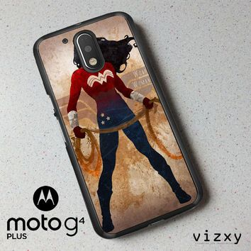 WONDER WOMAN silhouette Y0546 Motorola Moto G4 | G4 Plus Case