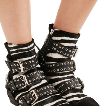 Rolling zebra-print calf hair, suede and leather ankle boots | Isabel Marant | UK | THE OUTNET