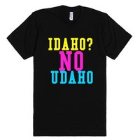 Idaho?no Udaho?-Unisex Black T-Shirt