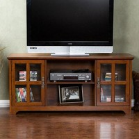 Mission Oak TV Stand - Fits Up To 50 Inch Flat Screen TV
