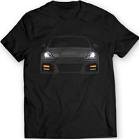 Porsche Panamera 2012 Turbo T-Shirt Mens Gift Idea Front Lights 100% Cotton
