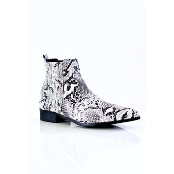 Snake Skin Pointed Toe Bootie