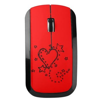 Heart Doodle Wireless Mouse