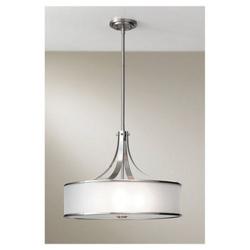 Murray Feiss Casual Luxury 4 Light Steel Drum Shade Chandelier - F2343/4BS