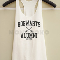 S M L -- Hogwarts Alumni Shirts Harry Potter Shirts Funny Shirts Women Tank Top Racer Shirts Racer Tank Top Women TShirts Women T-Shirts
