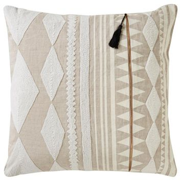 Cosmic Pillow Xl by Nikki Chu | Almond Buff & Bone White