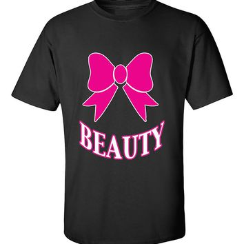 Beauty PINK Couples GYM Workouts Valentine's Day Gift T-Shirt