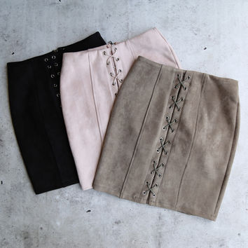 after midnight lace-up skirt - more colors