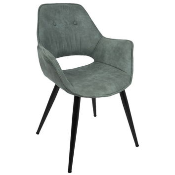 Mustang Contemporary Accent Chair in Teal -Set of 2