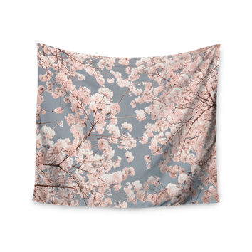 "Iris Lehnhardt ""Rosy Sky"" Pink Floral Wall Tapestry"