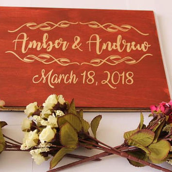 Wedding tree Guest Book alternatives and keepsake gifts for weddings, baby showers, anniversaries and family celebrations wood Guestbook