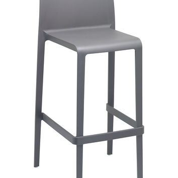 VOLT-B Gray Polypropylene Bar Stool