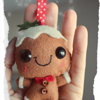 CHRISTMAS IN JULY - Gingerbread man - Christmas decoration, Christmas ornament