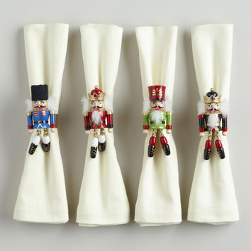 Nutcracker Napkin Rings,  Set of 4 - World Market