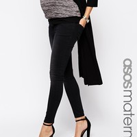 ASOS Maternity Ridley Skinny Jean in Black with Over the Bump Band - B