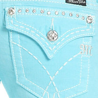 Miss Me Jeans, Skinny Studded-Pocket, Aqua Blue Wash - Womens Jeans - Macy's