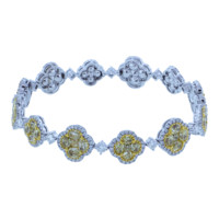 Fancy Diamond Cluster Bracelet | Marissa Collections