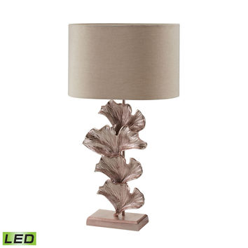 468-023-LED Ginkgo Leaf LED Table Lamp in Rose Gold - Free Shipping!