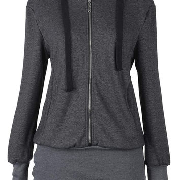 Cupshe Stage Night Hooded Long Sweatshirt