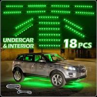 NEW LED Neon Accent Lighting Kit for Car Truck Underglow Interior 3 Mode - GREEN