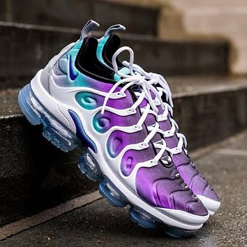 Nike Air Vapormax Plus Fashion New Triple White Women Men Sneakers Running Sport Shoes