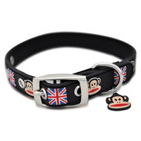 Paul Frank Rubberized Union Jack Collar - Designer - Nylon - PetSmart