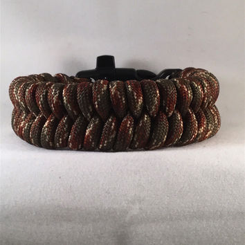 Anaconda - Fishtail Paracord Bracelet with Emergency Whistle Buckle