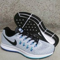 NIKE fashion casual breathable running shoes Gray black
