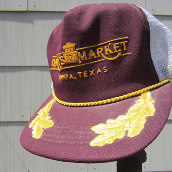 80s Danny's Market Trucker Hat // Vintage Texas Trucker Cap // Made in USA