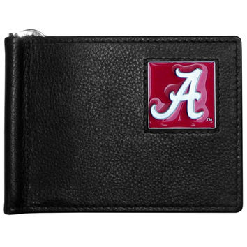NCAA Team Leather Bill Clip Wallet