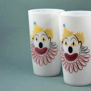 Hazel Atlas Circus Clown Tumblers