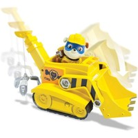 Paw Patrol Super Pup Rubble's Crane, Vehicle and Figure - Walmart.com